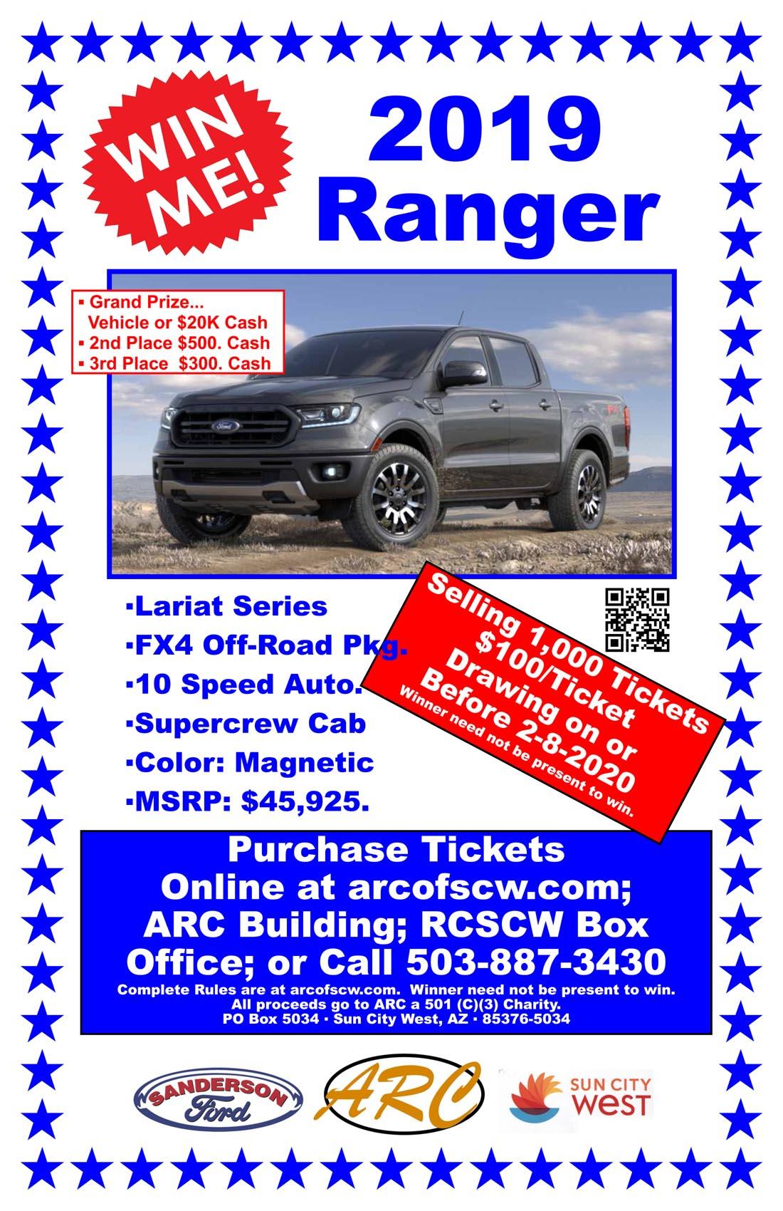 Dream Car Raffle – Ford Ranger – Automotive/Restoration Club